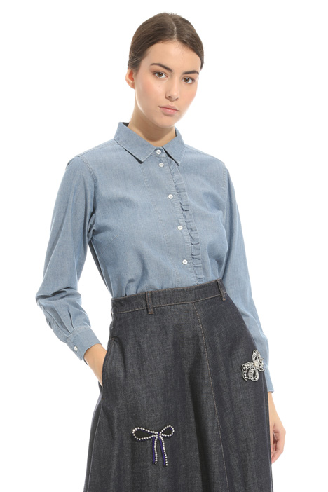 Shirt with ruffles Diffusione Tessile