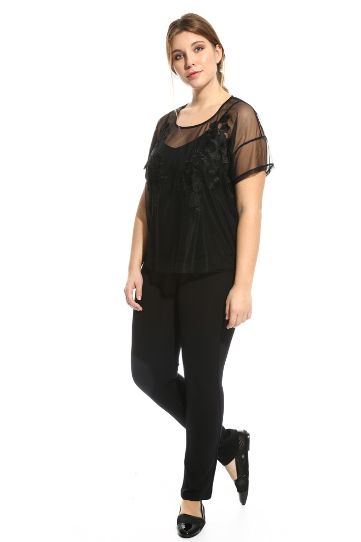 Casacca in tulle ricamato Intrend