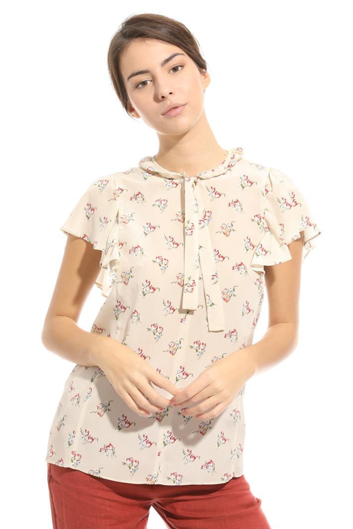Printed silk blouse Intrend