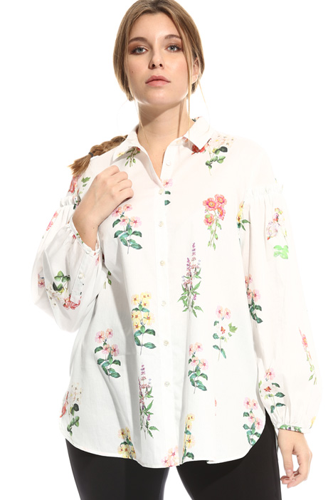 Cotton satin shirt Diffusione Tessile