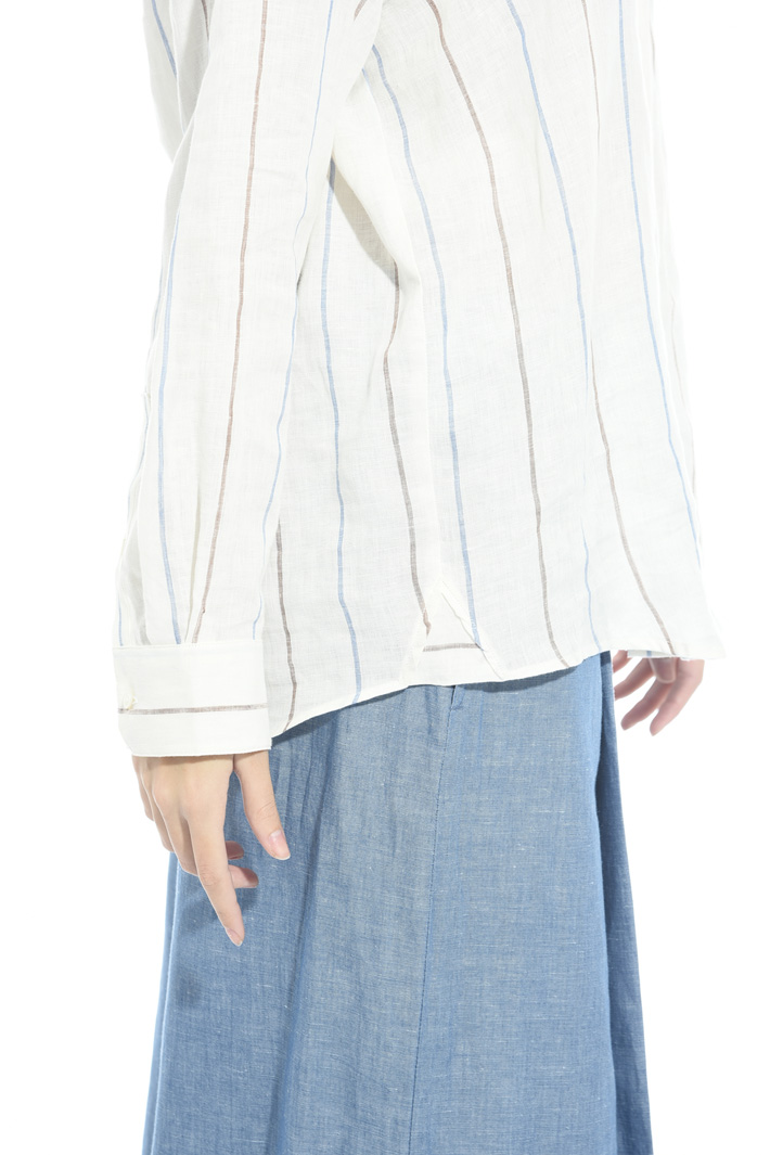 Yarn-dyed linen shirt Intrend