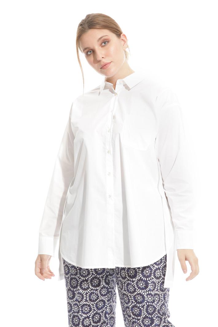 Camicia lunga in popeline Intrend