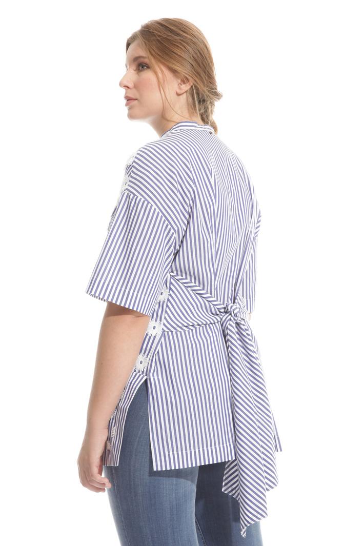Camicia in cotone con ricamo Intrend