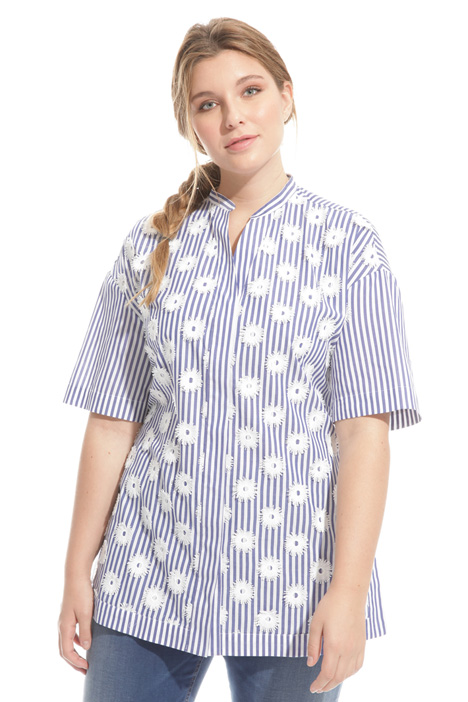 Embroidered cotton shirt Diffusione Tessile