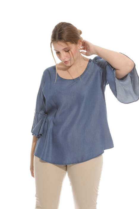 Blusa in tencel Intrend