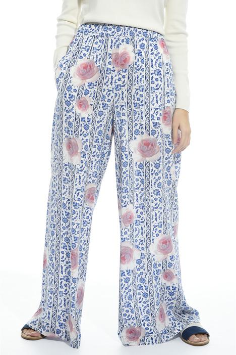 Pantalone a palazzo in seta Diffusione Tessile