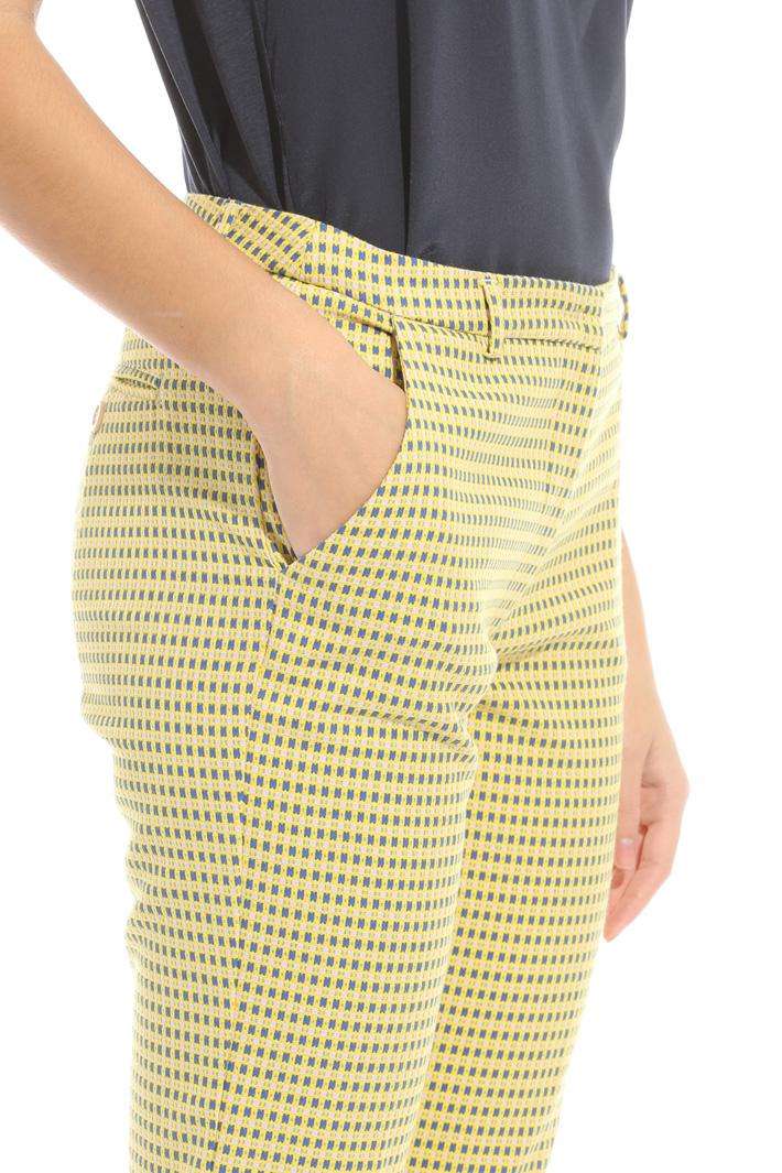 Pantalone con micro fantasia Intrend