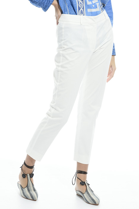 Capri trousers in cotton Diffusione Tessile