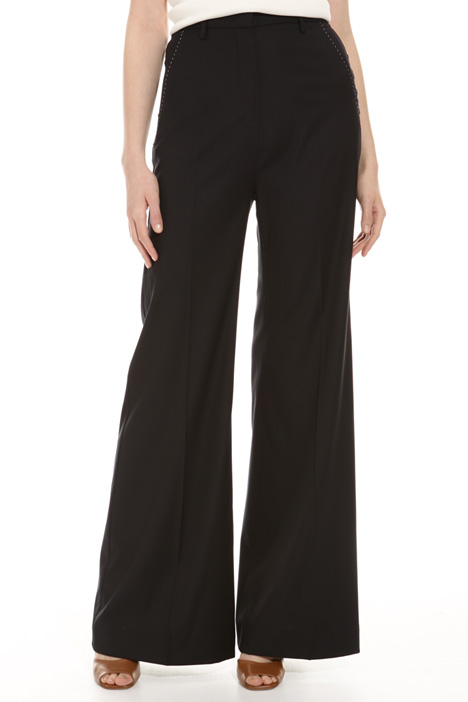 Wool blend palazzo trousers  Diffusione Tessile