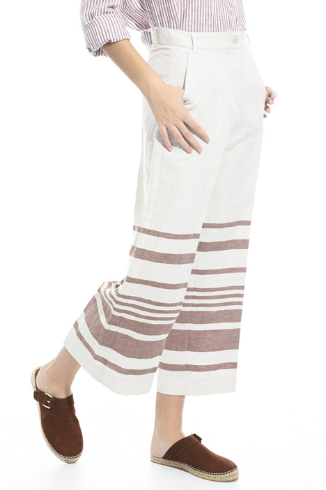 Striped linen trousers Diffusione Tessile