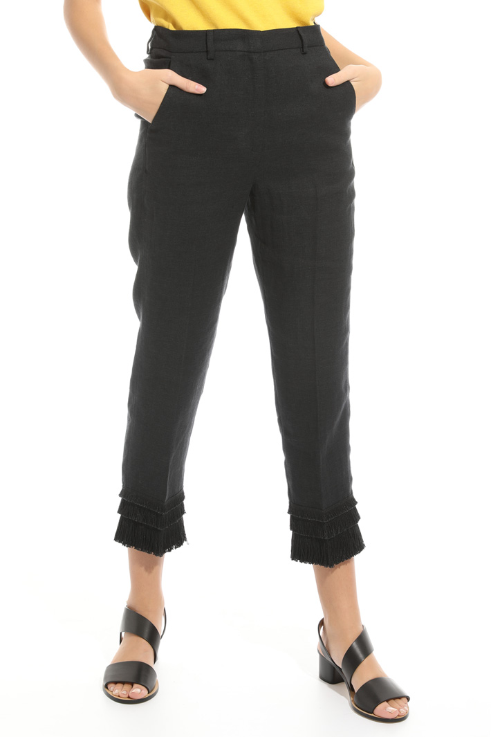 Pantalone con frange al fondo Intrend