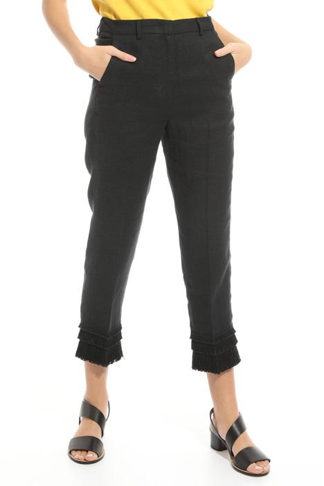 Pantalone con frange al fondo Diffusione Tessile