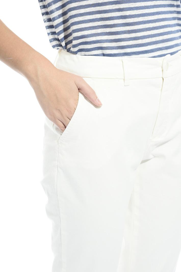 Pantalone sigaretta in cotone Intrend