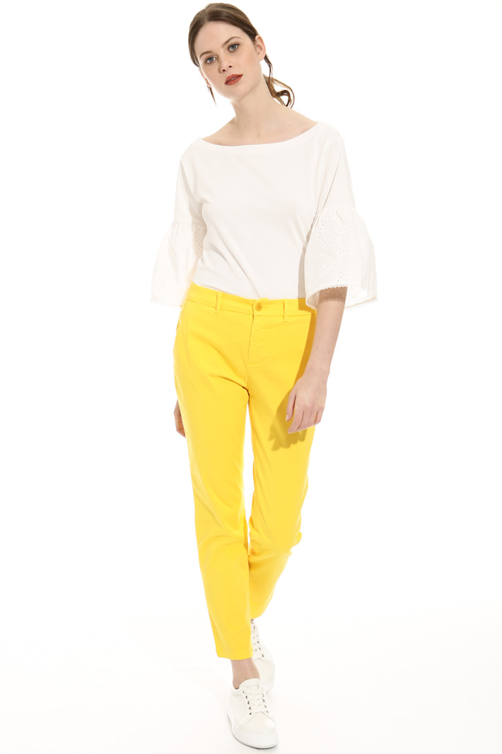 Cotton cigarette trousers Intrend