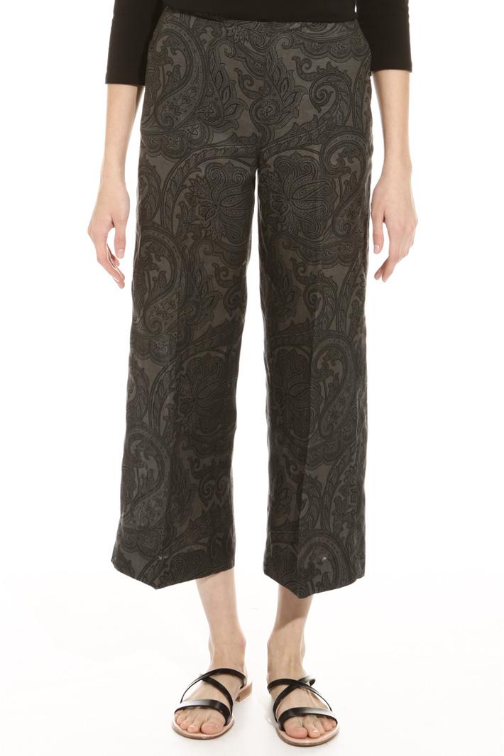 Pantalone in lino stampato Intrend