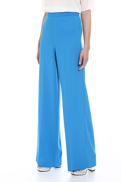 Palazzo trousers in cady Diffusione Tessile