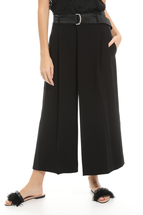 Wide trousers in fluid cady  Diffusione Tessile