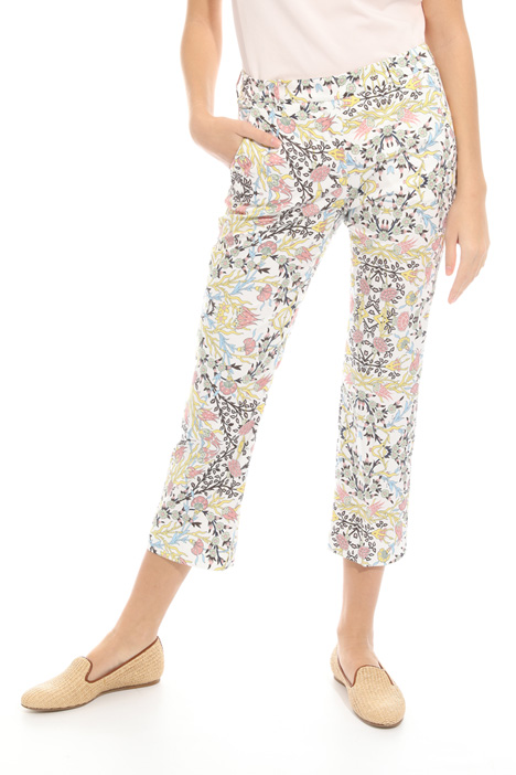 Cotton satin trousers Diffusione Tessile