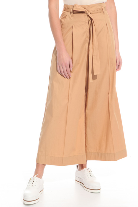 Wide-leg cotton trousers Diffusione Tessile