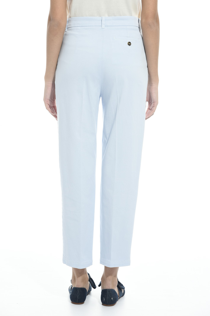 Stretch gabardine trousers  Intrend