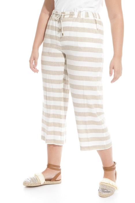 Pantalone in viscosa e lino Diffusione Tessile