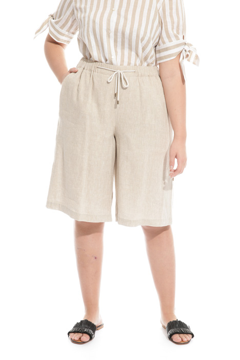 Bermuda shorts in linen blend Intrend