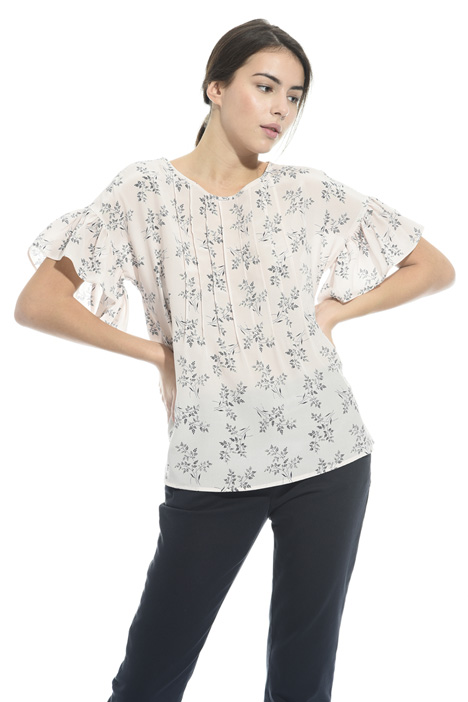 Blusa in seta stampata Intrend