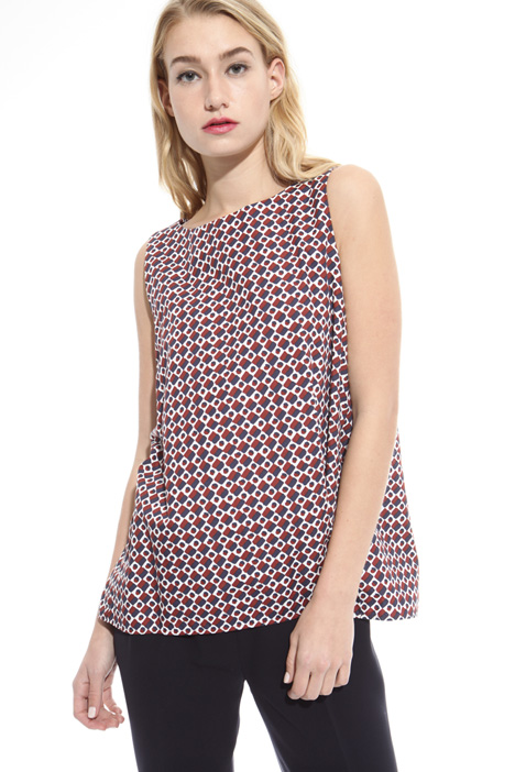 Printed poplin top Intrend