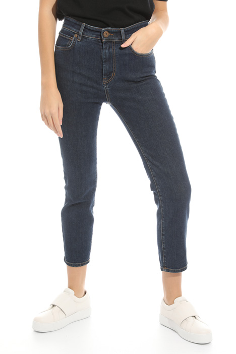 Jeans gamba aderente cropped Diffusione Tessile