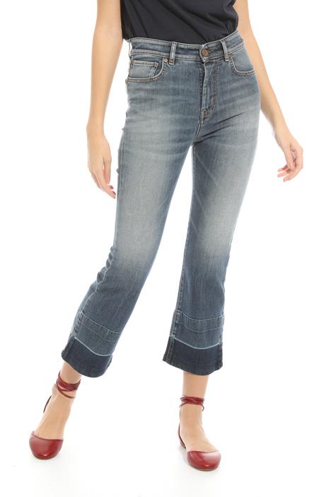 Jeans con bande scure al fondo Diffusione Tessile