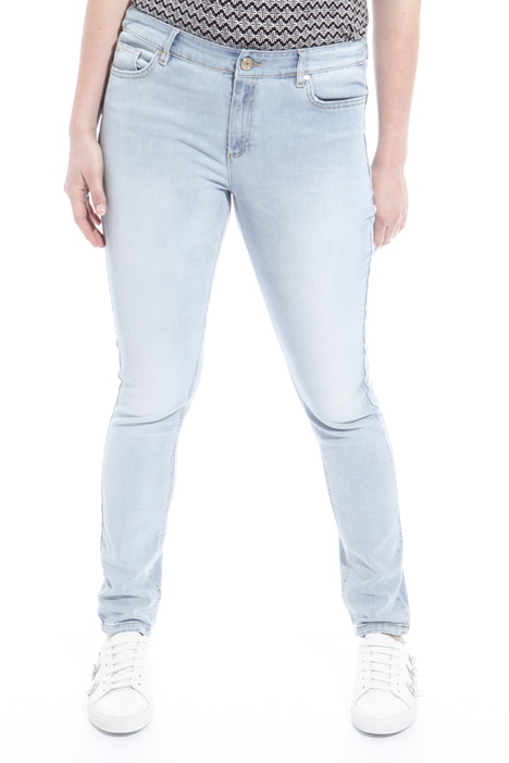 Pantalone in denim stretch Intrend