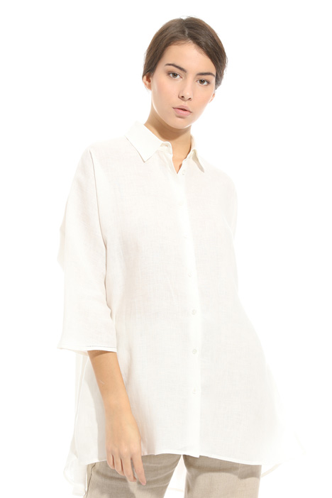 Oversized linen shirt Diffusione Tessile