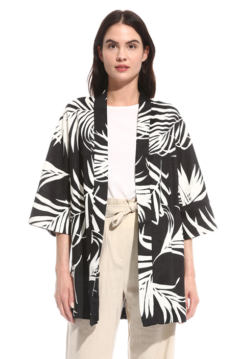 Printed shantung jacket Intrend