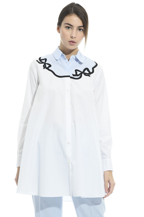 Oversized embroidered shirt  Diffusione Tessile