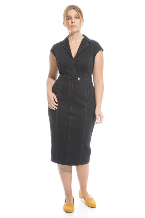 Sheath dress in denim jersey  Intrend