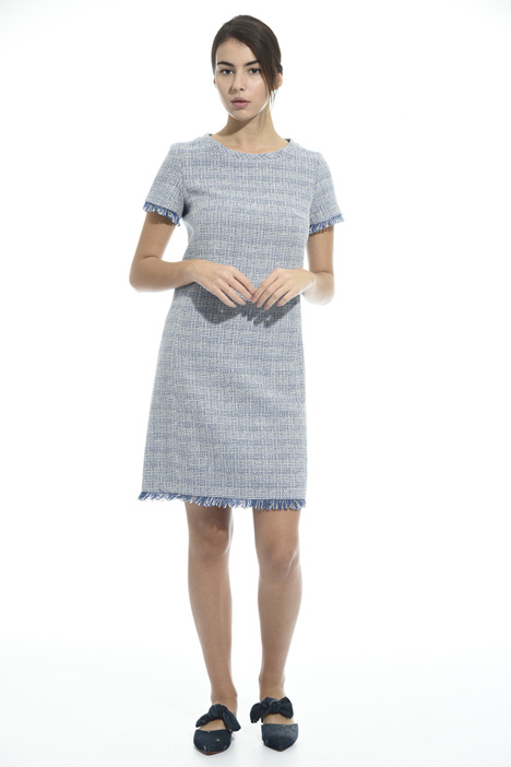 Dress in interwoven fabric Intrend