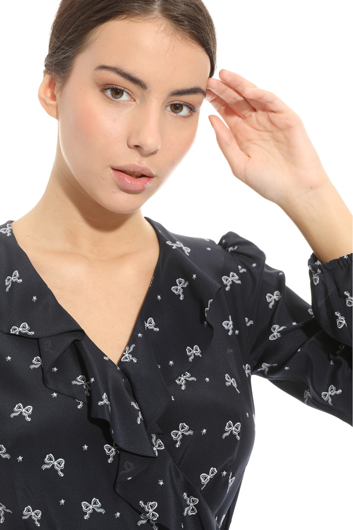Silk dress with ruffles  Intrend