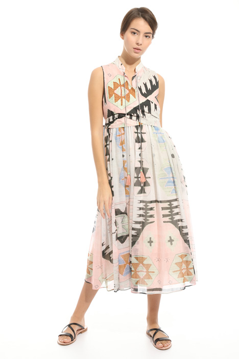Printed voile dress Intrend