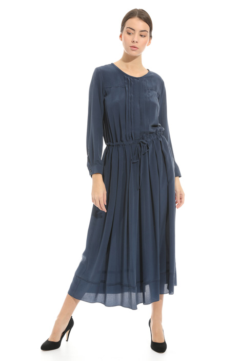 Long dress in washed silk  Intrend