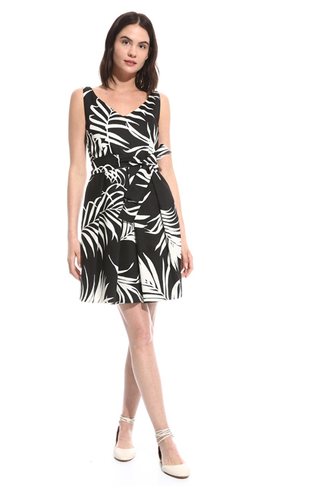 Printed shantung dress Intrend