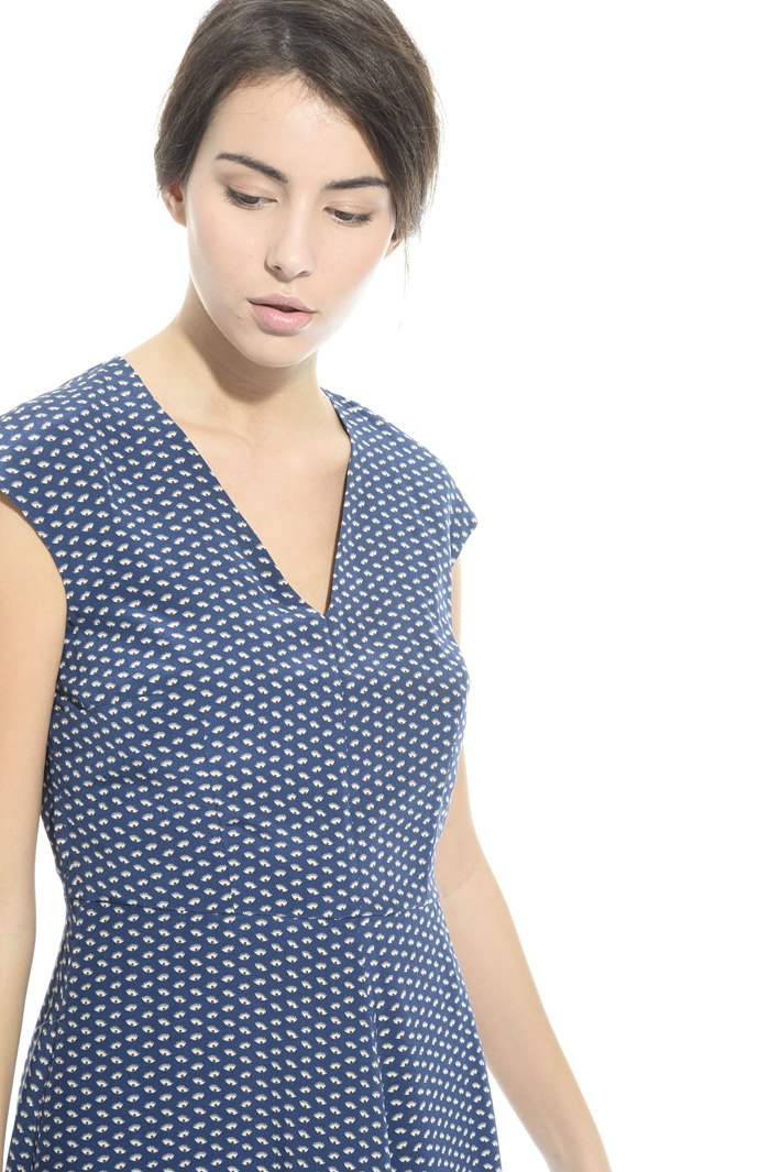 Long printed silk dress Intrend