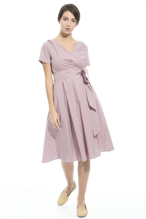 Wrap-up dress in cotton Intrend