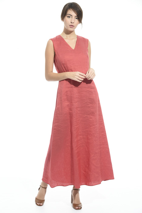 Linen and silk satin dress Intrend
