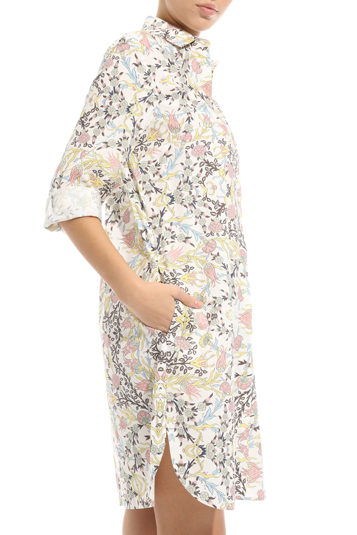 Printed poplin chemisier dress Intrend