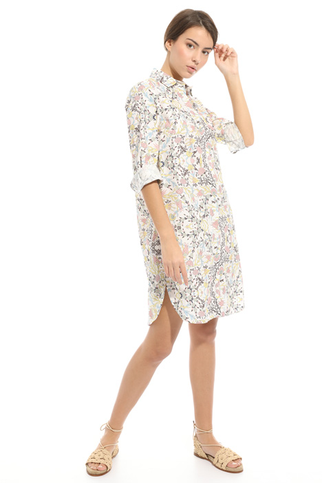 Printed poplin chemisier dress Diffusione Tessile