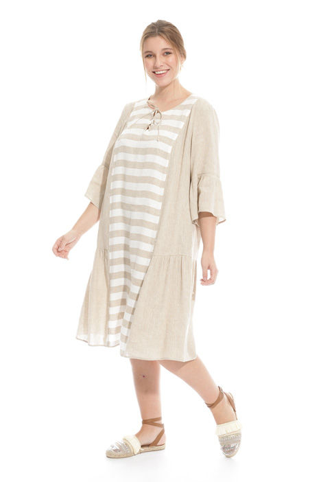 Linen and viscose dress Diffusione Tessile