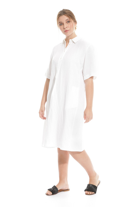 Tencel linen chemisier dress Diffusione Tessile