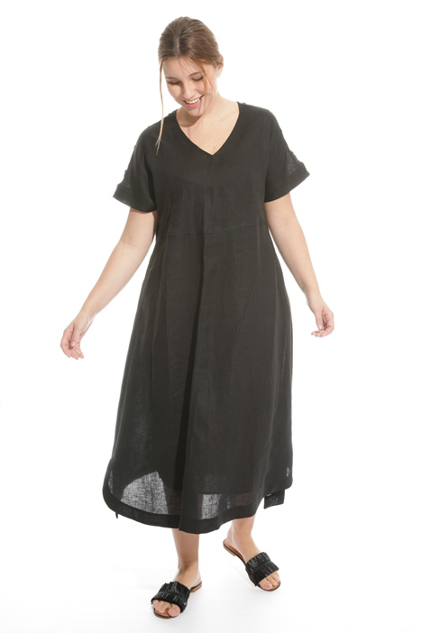 Flared linen dress Diffusione Tessile