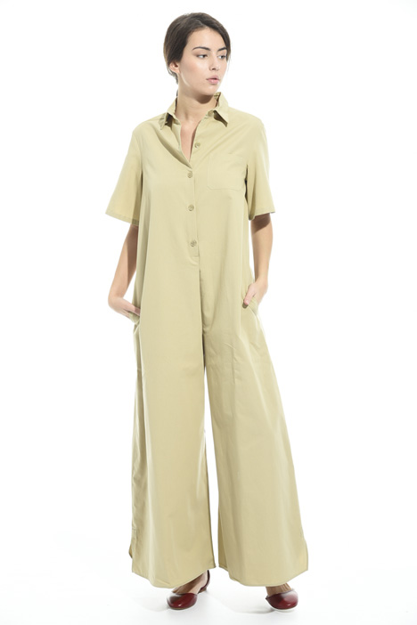 Cotton faille jumpsuit Intrend