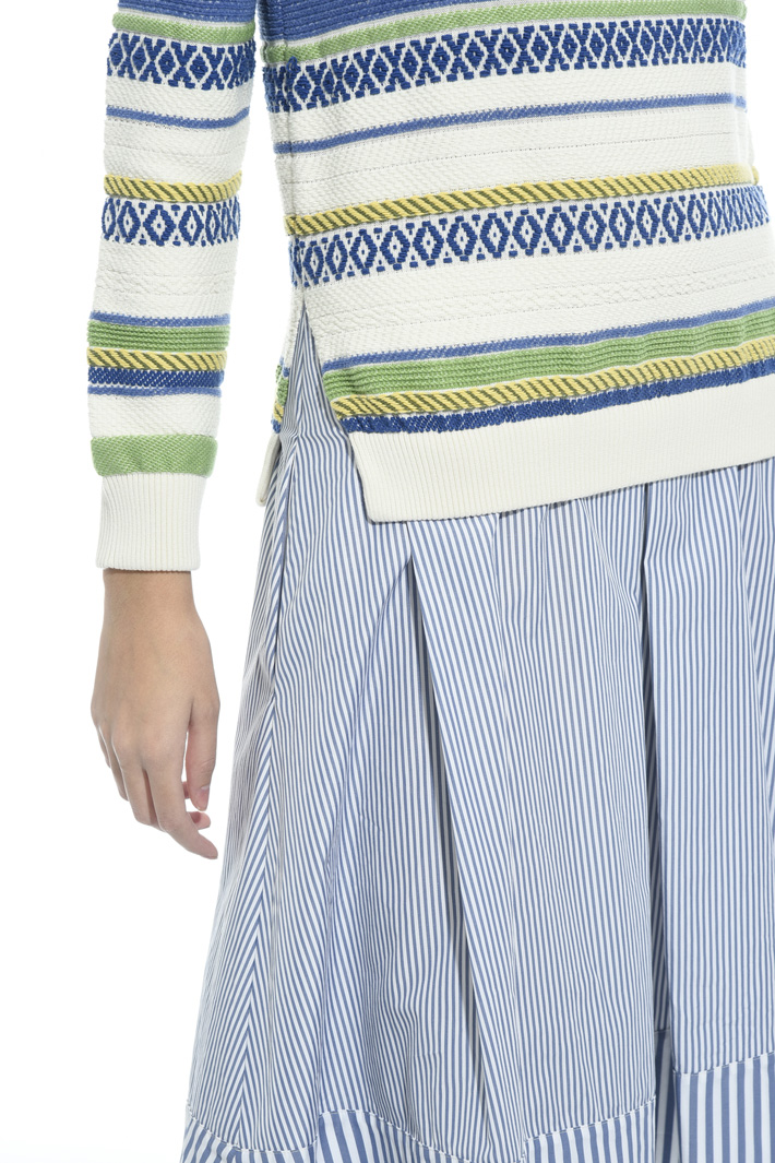 Mixed fabric dress Intrend